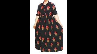 Download Creative Long gown, Maxi, Elbow length sleeves dress cutting and stitching in hindi Video
