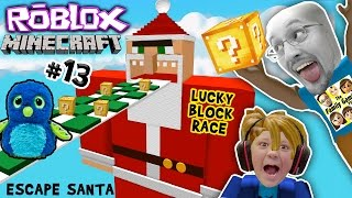 Download ESCAPE SANTA OBBY! Roblox #13 Minecraft Lucky Block Race Challenge Game! FGTEEV meets Hatchimals😱 Video