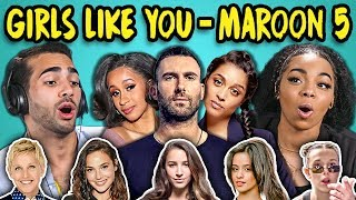Download ADULTS REACT TO GIRLS LIKE YOU - MAROON 5 (Ft. Cardi B) Video