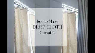 Download How To Make Drop Cloth Curtains Video