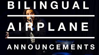 Download Mike Falzone | Bilingual Airplane Announcements | Stand Up Comedy Video