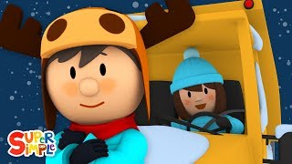 Download Sarah's Snow Plow Is Frozen Stuck | Carl's Car Wash | Cartoons for Kids Video