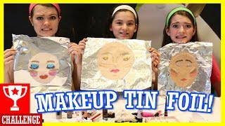 Download MAKEUP TIN FOIL CHALLENGE! With That Youtub3 Family! Video
