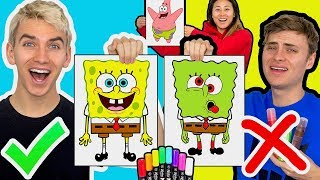 Download 3 MARKER CHALLENGE WITH MY BROTHER (SPONGEBOB EDITION) Video