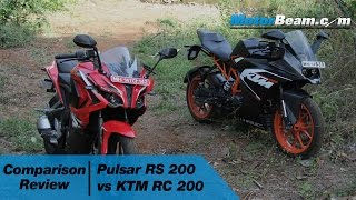 Download Pulsar RS 200 vs KTM RC 200 - Comparison Review | MotorBeam Video
