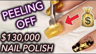 Download I peeled off $130,000 gold nail polish and kept it Video