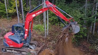 Download First Time Renting!! KUBOTA KX080-4 (Road Project) Video