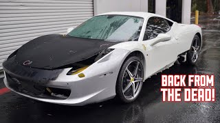 Download My WRECKED Ferrari 458 has a NEW FRONT END!!! Video