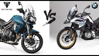 Download 2018 Triumph Tiger 800 XRT vs 2018 BMW F850GS |Comparison & Specs Video