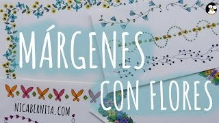 Download MÁRGENES PARA CUADERNOS Y BORDES PARA CARTAS con dibujos de flores (1)🌼 NICA BERNITA Video