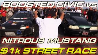Download Turbo Civic vs Nitrous Mustang Video