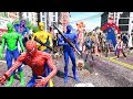 Download Spider-Man, Green Spiderman, Blue Spiderman, Yellow Spiderman VS Zombie Apocalypse Video