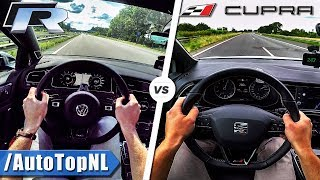 Download VW Golf R 310HP vs 300HP Seat Leon Cupra | ACCELERATION TOP SPEED POV & SOUND by AutoTopNL Video