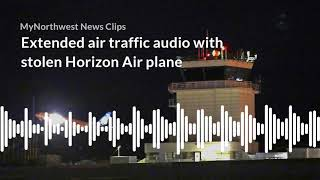Download Extended air traffic audio with stolen Horizon Air plane Video