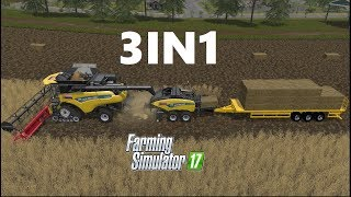 Download Farming Simulator 17 | 3IN1 | Wheat Harvesting , Baling , Auto Loading, Selling Video