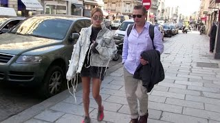 Download EXCLUSIVE - Model Hailey Baldwin running errands while in Paris for the Ready to Wear Fashion Week Video