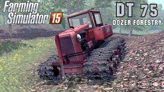 Download Farming Simulator 2015 mod crawler tractor DT 75 DOZER FORESTRY Video