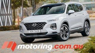 Download First Look at Hyundai's 2019 Santa Fe | motoring.au Video