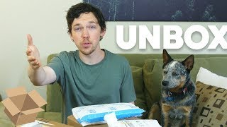 Download Unboxing Haul With Arlo the Phone Dog! (May 2018) Video
