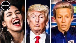 Download AOC and Megan Rapinoe CLOWN Donald Trump Video