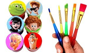 Download Hotel Transylvania 3 Drawing & Painting with Surprise Toys Mavis Dracula Dennis Ericka Van Helsing Video