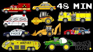 Download 48 Minutes of Vehicles - Collection of Street, Emergency Vehicles & More - The Kids' Picture Show Video
