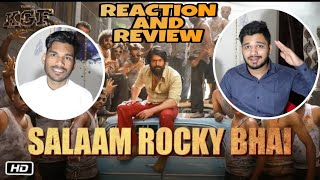 Download SALAAM ROCKY BHAI | KGF Chapter 1 | Yash, Srinidhi Shetty | M Bros Reaction Review | M Bros India Video