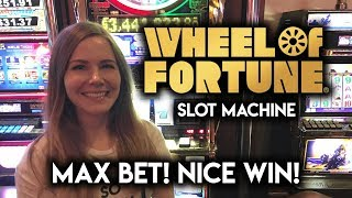 Download NICE WIN! on a Very Old Wheel of Fortune Slot Machine! Plenty of SPINS! Video