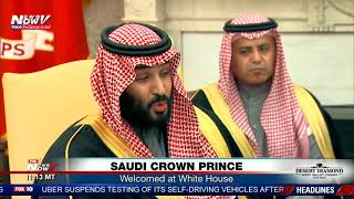 Download SAUDI CROWN PRINCE: Welcomed at White House by President Trump (FNN) Video