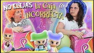 Download ¡¡NO ELIJAS la CAJA incorrecta!! 🎁 Reto LADYPECAS vs MAMI con Pinypon MAGIC COLORS Video