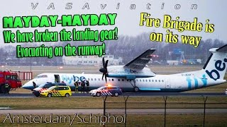 Download [REAL ATC] Flybe Dash-8 GEAR COLLAPSES landing at Amsterdam/Schiphol Video