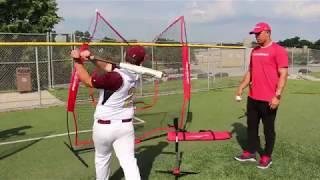 Download PowerNet Baseball Softball 7x7 Practice Net Bundle w/ Travel Tee Video