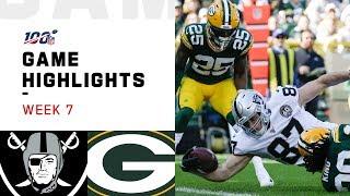 Download Raiders vs. Packers Week 7 Highlights   NFL 2019 Video