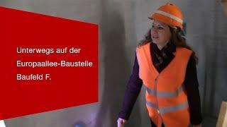 Download Mit Projektleiterin Alexandra Galbraith unterwegs auf der Baustelle Europaallee. Video