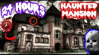 Download (PARANORMAL ACTIVITY!) 24 HOUR OVERNIGHT in HAUNTED MANSION | SCARY GHOST in HAUNTED HOUSE OVERNIGHT Video