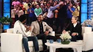 Download Chadwick Boseman and Ellen Surprise 'Black Panther' Fundraiser Frederick Joseph Video