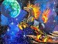 Download Beginner Acrylic Painting tutorial Galaxy Fire Unicorn Video