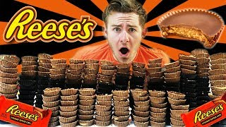 Download 250 REESE'S PEANUT BUTTER CUP CHALLENGE! (20,000+ CALORIES) Video