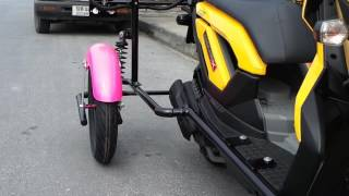 Download Trike Conversion Kit by Seree Moto # Honda Zoomer X ล้อกันล้ม Video