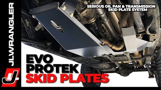 Download Jeep JL Wrangler Skid Plates EVO ProTek Engine Oil Pan and Transmission Protection HOW TO INSTALL Video