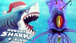 Download GIANT SQUID BOSS BATTLE!!! - Hungry Shark World | Ep 34 HD Video