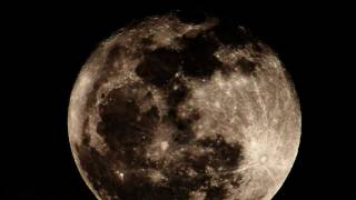 Download Huge Full Moon Rise - Realtime 2600mm 720p HD V10798a Video