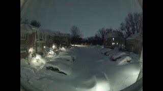 Download ″Snowzilla″ snow blizzard timelapse, Maryland, USA. January 2016. Video