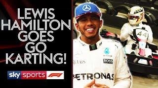 Download Go Karting with Lewis Hamilton | Lewis v Martin Brundle vs Johnny Herbert Video