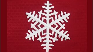 Download Paper snowflake 1 - Detailed tutorial - Intermediate level - Can YOU do it? Video