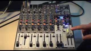 Download How to use a Behringer 1204FX mixer for live sound reinforcement Video