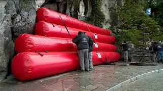 Download Lourdes : le sanctuaire se dote d'un dispositif anti-inondations Video