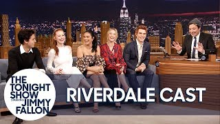 Download The Cast of Riverdale Gives Jimmy Fallon His Own Jughead Crown Video