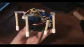 Download Simple beginer Hexapod Robot that uses only 5 servos Video
