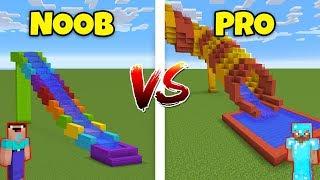 Download Minecraft NOOB vs. PRO: WATER SLIDE in Minecraft! AVM SHORTS Animation Video